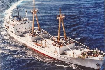 """Estampa marinera del buque """"Río Asón"""""""