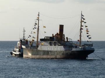 """Desde hace 30 años, el vapor """"La Palma"""" se encuentra en Santa Cruz de Tenerife"""