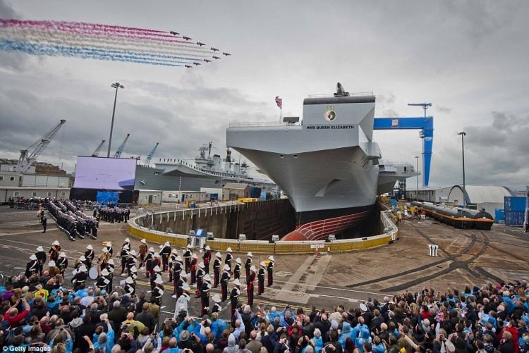 El nuevo portaaviones es el mayor buque de la historia de la Royal Navy