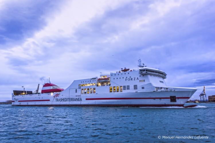 """El buque """"Forza"""", el más reciente refuerzo de Trasmediterránea en Baleares"""