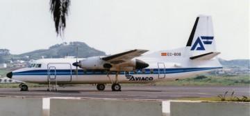 Fokker F-27 EC-BOB de Aviaco, en Tenerife Norte