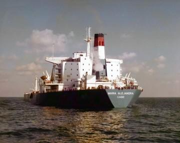 """El petrolero """"María Alejandra"""", en el puerto de Santa Cruz de Tenerife"""