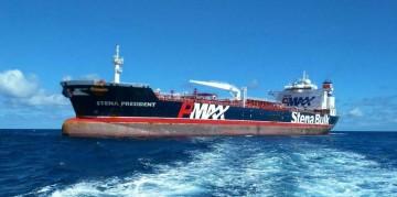 """El buque """"Stena President"""", en su escala ayer en Santa Cruz de Tenerife"""
