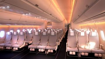 Disposición de la cabina turista del nuevo A350 de Finnair