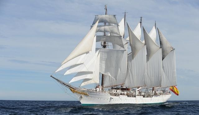 """El buque-escuela """"Juan Sebastián de Elcano"""" llegará mañana de nuevo a Santa Cruz de Tenerife"""
