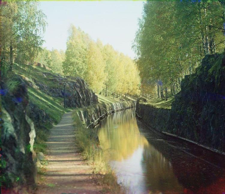 El canal de Saimaa, en una imagen de 1903
