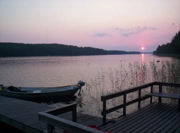 El paisaje del lago Keitele es de una singular belleza