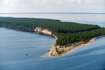 La isla Ärjänsaari, con sus altos bancos de arena, es uno de los elementos distintivos del paisaje del lago Oulu