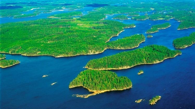 Panorámica del llago Saimaa
