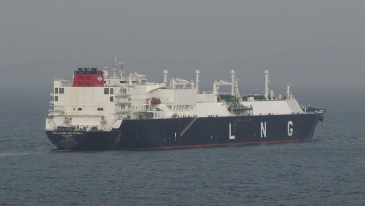 """El buque metanero """"Castillo de Santisteban"""", controlado por ENE abanderado en Malta"""