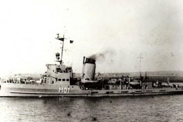 """El buque dragaminas """"Bidasoa"""" entró en servicio el 25 de abril de 1946"""