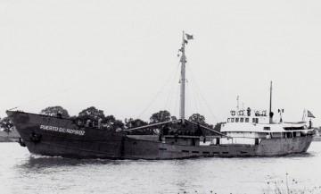 """Estampa marinera del buque """"Puerto de Aspiroz"""""""