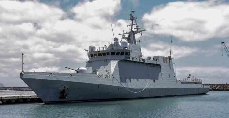 """El BAM """"Meteoro"""" se encuentra atracado en el puerto de Santa Cruz de Tenerife"""