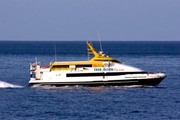 """En su úitima etapa, la línea interior gomera estuvo atendida por el catamarán """"Benchi Express"""""""