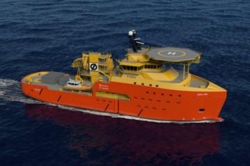 Este será el aspecto exterior de los buques de apoyo para torres eólicas que construye Astilleros Gondán