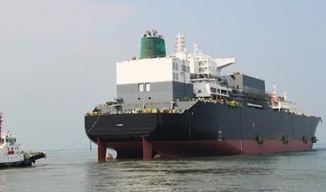 """El buque """"Castillo de Caldelas"""", tras su puesta a flote"""