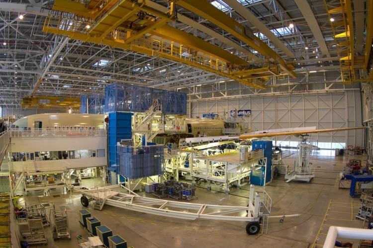 Cadena de montaje del avión Airbus A350
