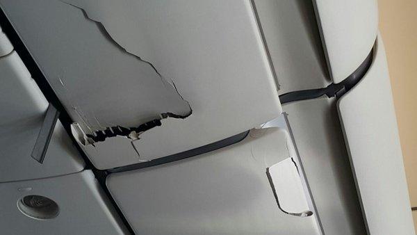 Desperfectos causados por la turbulencia severa a bordo del avión de Etihad