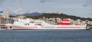 "El buque ""Forza"" cubre la línea Valencia-Palma de Mallorca"