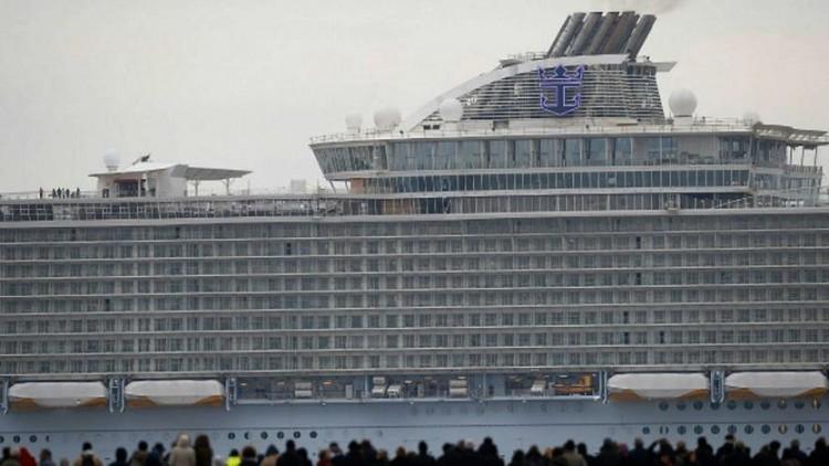 """El buque """"Harmony of the Seas"""" es el tercero de la seriie """"Oasis"""",. apenas un poco mayor"""