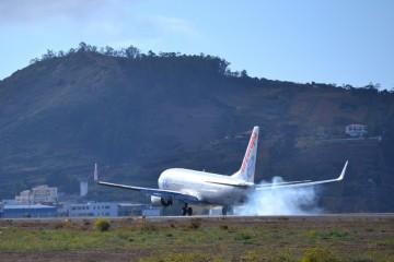 Con el aterrizaje, el vuelo del avión ha terminado