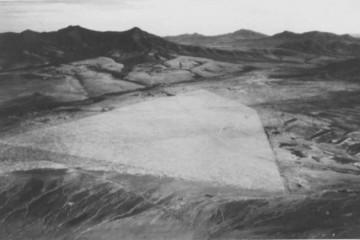 Panorámica aérea del aeródromo de Tefía, en Fuerteventura