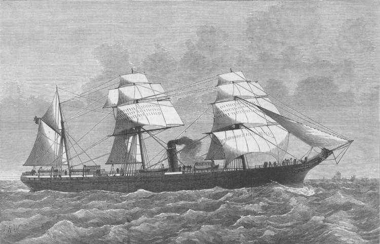 """Estampa marinera del primer """"Alfonso XII"""". No le acompañó la suerte"""