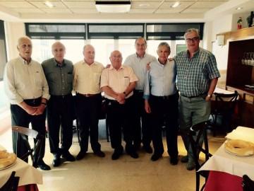 De izq. a dcha: Manuel Marrero Álvarez, Carlos Peña Alvear, José Moro Mediano, Manuel Padín García, Juanjo Loredo Mutiozábal, Lucinio Martínez Santos y Juan Carlos Díaz Lorenzo