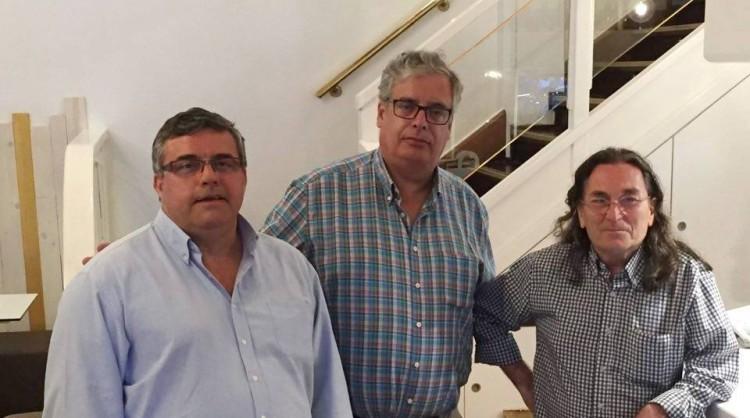 De izq. a dcha: José Luis Díaz Campa, Juan Carlos Díaz Lorenzo y Javier Lamelas Olarán