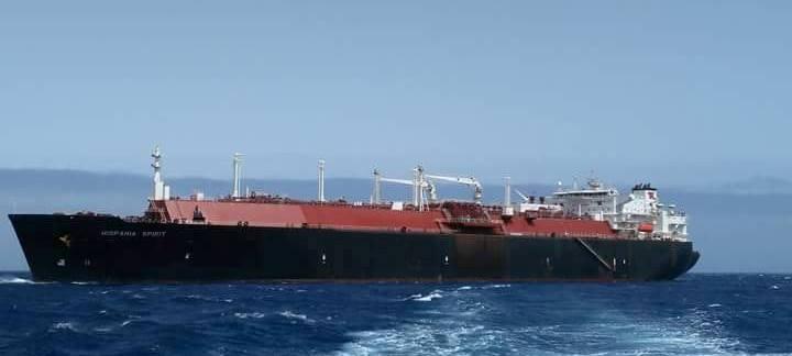 "El buque metanero ""Hispania Spìrit"", en aguas de Santa Cruz de Tenerife"