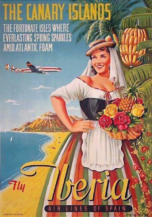 Motivo de Canarias en la publicidad del legendario avión Super Constellation