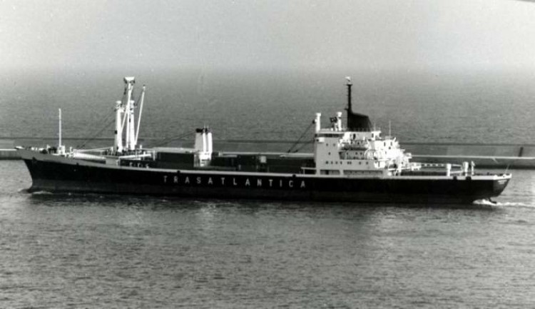 """El buque """"Roncesvalles"""", en el que se produjo la situación que se relata"""