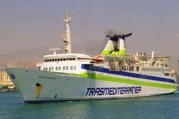 """El buque """"Ciudad de Badajoz"""", visto por la amura de babor"""