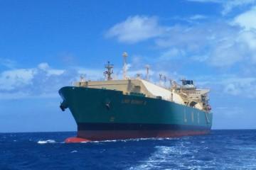 """Estampa marinera del buque """"LNG Bonny II"""""""