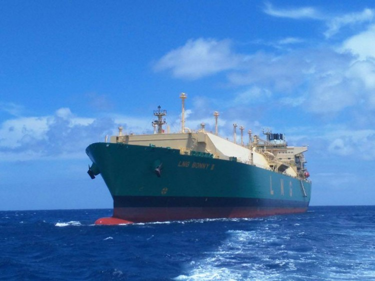 "Estampa marinera del buque ""LNG Bonny II"""