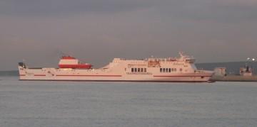 """El ferry """"Tenacia"""", adscrito a la línea Barcelona-Palma de Mallorca"""
