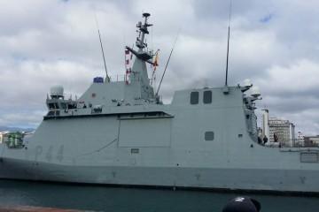 """El BAM """"Tornado"""" (P-44), a su llegada ayer a Las Palmas"""