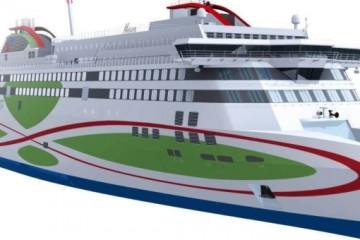 """Esta será el aspecto exterior del ferry """"Megastar"""""""