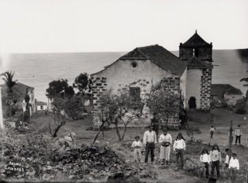 La iglesia de la villa de San Andrés, en una imagen de finales del siglo XIX