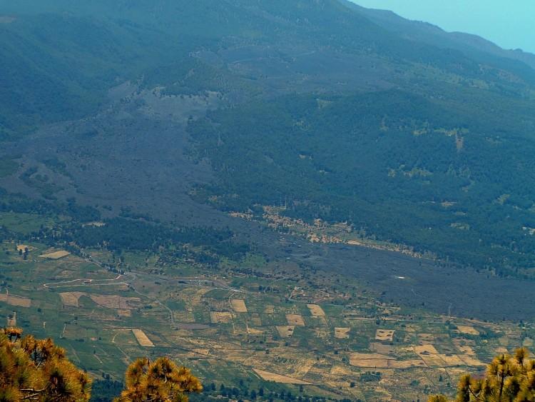 La colada del volcán de Tacande, visto desde el Bejenado