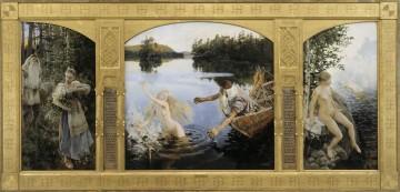 Tríptico de Akseli Gallen Kalela (1891), en el que la protagonista es Aino