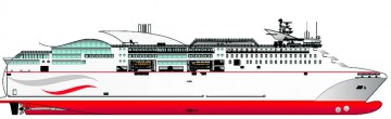 Esta es la primera imagen del futuro ferry contratado en Astilleros Armón