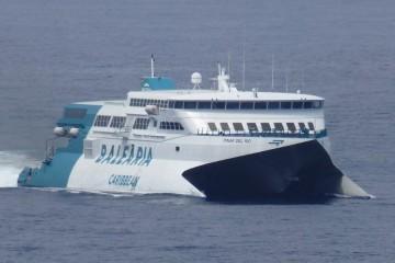 """El catamarán """"Pinar del Río""""  atiende las líneas Motril-Melilla y Almería-Melilla"""