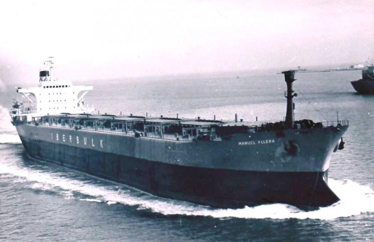 "Estampa marinera del ""bulkcarrier"" español ""Manuel Yllera"""