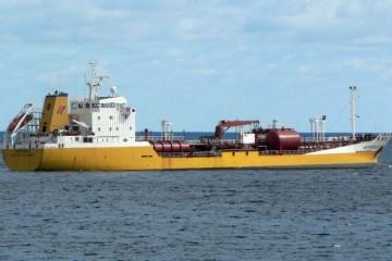 """El petrolero """"Hespérides"""", propiedad de Distribuidora Marítima Petrogás"""