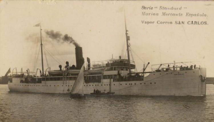 """El buque """"Santa Isabel"""" era gemelo del """"San Carlos"""", al que vemos en la imagen"""