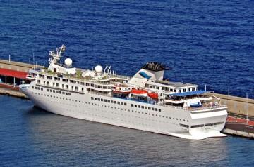 """El buque """"Voyager"""", en su escala del 25 de noviembre de 2015 en Santa Cruz de La Palma"""