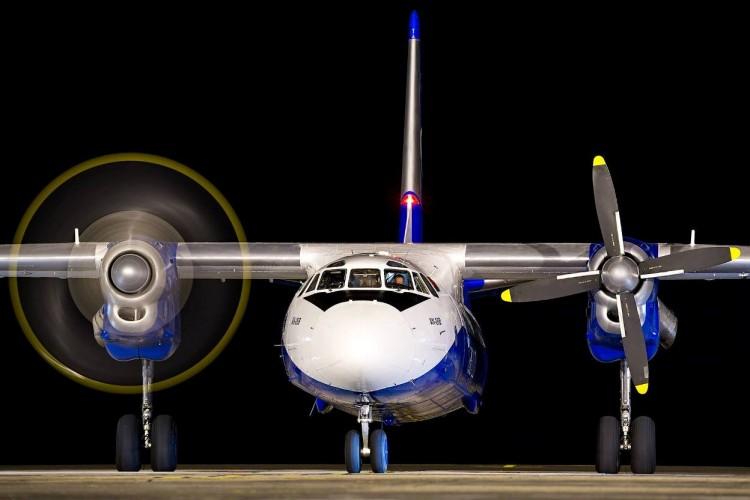Vista de morro del avión Antonov An-26B