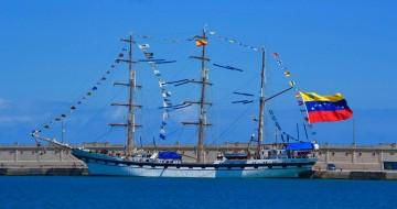En su viaje de entrega en 1980 hizo escala en Santa Cruz de Tenerife