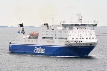 """El buque """"Finneagle"""", uno de los grandes barcos de Finnlines"""